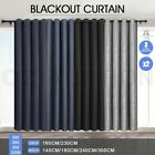 LUXDREAM 2X Blockout Curtains Panels 3 Layer Pure Fabric Blackout Room Darkening