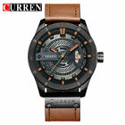 CURREN Mens Business Watches Leather Analog Waterproof Quartz Wristwatch 8301 image