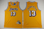 New Men's Los Angeles Lakers #13 Wilt Chamberlain Basketball jersey Mesh Yellow on eBay