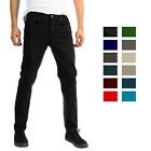 Alta Designer Fashion Mens Slim Fit Skinny Denim Jeans Multiple Colors