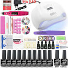 New Manicure Sets Nail Gel Polidh Tools Kit For Varnish 54W UV Lamp Nail Dryer