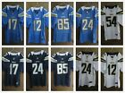 Men's San Diego Chargers ELITE Stitched Jersey #12 #17 #24 #54 #85 $33.99 USD on eBay