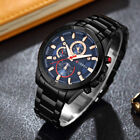 CURREN Mens Business Watches Stainless Steel Waterproof Quartz Wristwatch 8275 image