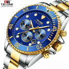 TEVISE Mens Business Luminous Day Display Watches Analog Quartz Wristwatch T823A image