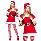 LADIES WOMENS MRS SANTA CLAUS CHRISTMAS SEXY FANCY DRESS COSTUME OUTFIT HAT CAPE