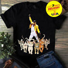 Freddie Mercury and His Cats Men T-Shirt Size S-3XL image