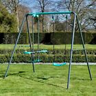 Rebo+Children%E2%80%99s+Metal+Garden+Play+Set+Range+Swings+%26+Slides
