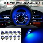 10x T10 Wedge LED Blue Intrusmental Speedometer Gauge Cluster 12V Light Bulb $7.52 USD on eBay