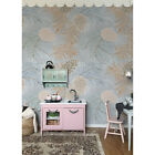 Non-Woven wallpaper Taiga Pine cones Pale for Kids Room North Fir Spruce Pine