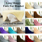 Large Soft Reversible Long Shaggy Decorative Faux Fur Throw Bed Blanket 4 Sizes image