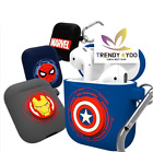 Marvel Airpods Case Protective Siliicon Skin Cover Marvel Character+Tracking