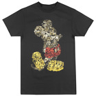 DISNEY MICKEY MOUSE COLLAGE T-SHIRT BLACK MENS DISNEYLAND VINTAGE STEAMBOAT TEE image
