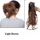 Thick Clip In Ponytail as human Hair Extensions Ombre Brown Claw On Pony Tail US