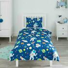 Bloomsbury Mill - Outer Space, Rocket  Planet - Kids Bedding Set - Blue - Singl