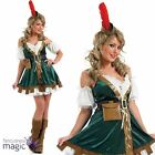 Adults Ladies Sexy Robin Hood Maid Marion Medieval Fancy Dress Costume And Hat