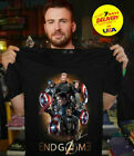Captain America Avengers End Game Superheroes T Shirt Black Cotton Men S-2XL image