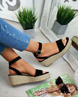 Summer  Women Platform Sandals Espadrille Ankle Strap Comfy Shoes Sizes 3-7 Lady