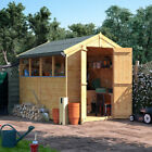 Tongue & Groove Garden Storage Wooden Shed Double Door Apex Roof & Felt Premium
