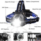Zoom 250000LM Headlamp Rechargeable LED Headlight 18650 Flashlight Head Torch