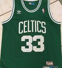 BOSTON CELTICS 33 Larry Bird Hardwood Classics Sewn Jersey