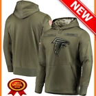 Men's NFL Atlanta Falcons salute to service Football hoodie pullover olive suit on eBay