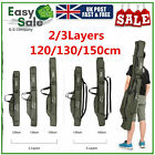 'Portable Fishing Rod Carrier Canvas Pole Tools Storage Gear Tackle Bag Case Uk
