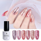5ml Nail UV Gel Polish Rose Gold Glitter Shine Soak Off Gel Varnish Born Pretty