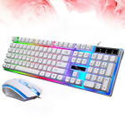 Rainbow LED Wired USB Gaming Keyboard Mouse Set For PC Laptop PS4 Xbox One 360 R