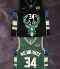 34 Giannis Antetokounmpo Black Green Mens Swingman Jersey Milwaukee Bucks