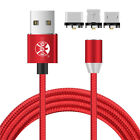 Magnetic Micro USB Type-C IOS Charger Data Cable For iPhone Apple Samsung lot
