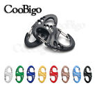 Plastic Carabiner Snap Hook 8 Shape Clip KeyChain Key Ring Backpack Accessories