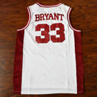 Kobe Bryant #33 Lower Merion High School Basketball Jersey Stitched White RED
