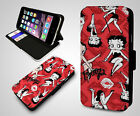 Betty Boop Pink Heart Cartoon Red Kiss Classic Wallet Leather Phone Case Cover $12.48 USD on eBay