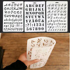 Letter Alphabet Number Hollow Stencils Painting Scrapbooking Paper Cards Craft S