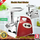 2800W Electric Stainless Meat Grinder Mincer Sausage Filler Kibbe Maker 3Colors