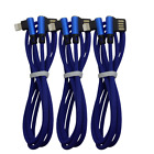 3Pack Lightning Cable Heavy Duty For iPhone Xs X 8 7 6 USB Charger Charging Cord