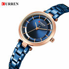 CURREN Women Fashion Stainless Steel Thin Dial Analog Quartz Wrist Watches 9054 image