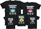 Baby Shark Mommy Shark Daddy Shark TSHIRT Family Member Tee Shirt image