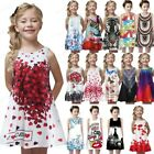 Childer Toddler Girl Summer Princess Dress Kid Baby Print Party Sleeveless Dress