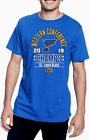 St. Louis Blues Royal 2019 NHL Western Conference Champs Men's T- Shirt all size $13.99 USD on eBay