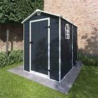 BillyOh Ashford Outdoor Plastic Garden Storage Shed Apex Grey Inc Foundation