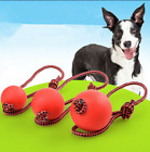 Indestructible Rubbrt Dog Ball on a Rope for Pet Puppy Resistant for Training