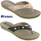 WOMENS SANDALS TOE POST INBLU FLAT PADDED HOLIDAY COMFORT SHOES SOFT UK 2.5-8