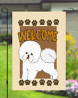 Bichon Frize Welcome Dog Garden Banner Flag 11x14 to 12x18 Pet Yard Decor Breed