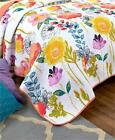 WATERCOLOR REVERSIBLE FLORAL PRINT QUILT AND/OR SHAM BEDDING IN 2 SIZES image