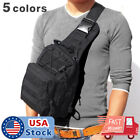 Men Backpack Molle Tactical Sling Chest Bag Assault Pack Messenger Shoulder Bag