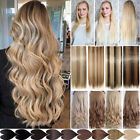 One Piece 3/4 Full Head Clip in on Hair Extension Real As Human Hair Pieces LC7