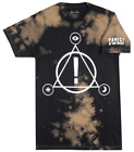 PANIC AT THE DISCO SYMBOLS T-SHIRT BLEACH WASH MENS ROCK MUSIC TEE MANHEAD image