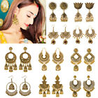 Indian 22K Gold Plated Earrings Jhumka Drop Dangle Bollywood Women Stud Earrings