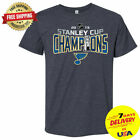 St. Louis Blues 2019 Stanley Cup Champions T-Shirt Short Sleeve S-2XL $19.99 USD on eBay